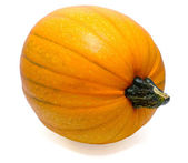 Isolated orange pumpkin with stem — Stock Photo