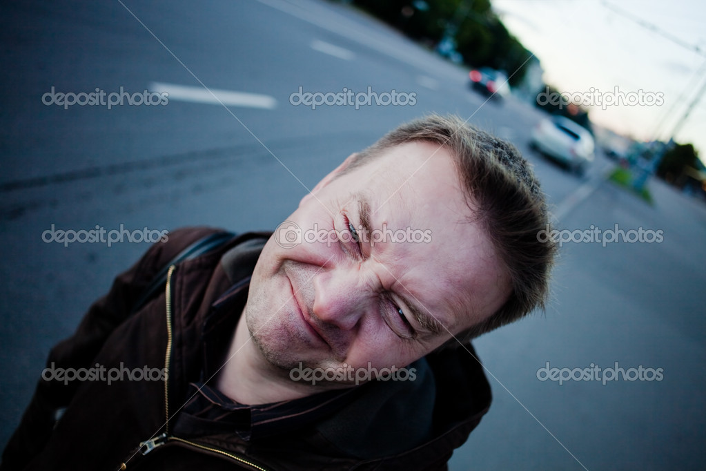 Funny man, outdoors portrait — Stock Photo #6325193