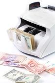 Electronic money counter — Stock Photo