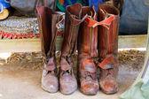 Jezdecké boty, připravený hrát polo. — Stock fotografie