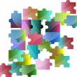 Stock Photo: Collection of colorful pieces of puzzle