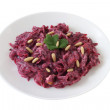 Beet salad with nuts - Stock Photo