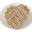 Crackers on a plate - Stock Photo