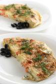 Frittata with salmon — Stock Photo