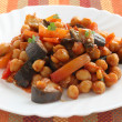 Salad chick pea with eggplant — Stock Photo
