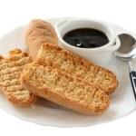 Bread with jam — Stock Photo