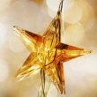 Golden Christmas stars — Stock Photo #6085451
