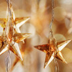 Golden Christmas stars — Stock Photo