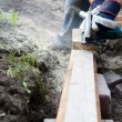 Stock Photo: Building a patio