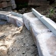 Building a patio — Stock Photo