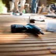 Building a patio - Stock Photo