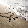 Heart at the beach — Stock Photo