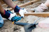 Bygga en uteplats — Stockfoto