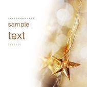 Altın christmas yıldız — Stok fotoğraf