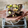 Chocolate with pistacios — Stockfoto