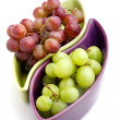 Green and red grapes — Stock Photo