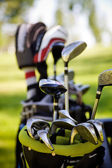 Dirty golfclubs — Stock Photo