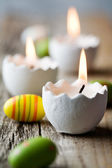 Easter candles — Stock Photo
