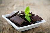 Naneli çikolata — Stok fotoğraf