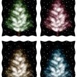 Christmas tree illustration — Stock Photo