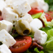 Fresh feta salad - Stock Photo