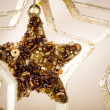 Golden Christmas star — Stock Photo