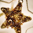Golden Christmas star — Stock Photo #6286695
