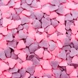 Pink and purple hearts — Stock Photo
