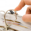 Papers in folder — Stock Photo