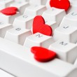 Hearts on keyboard — Stock Photo #6287019