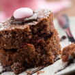 Stock Photo: Strawberry-chocolate cake