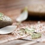 Bath salt on spa stones — Stock Photo #6287297