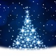 Blue Christmas tree illustration — Stockfoto