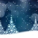 Blue Christmas tree illustration — Stock Photo