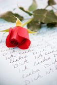 Loveletter in german language — Stock Photo