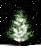 Christmas tree illustration — Stock Photo