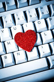 Heart on keyboard — Stock Photo