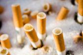 Cigarette ashtray — Stock Photo