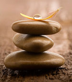 Pile of massage stones — Stock Photo