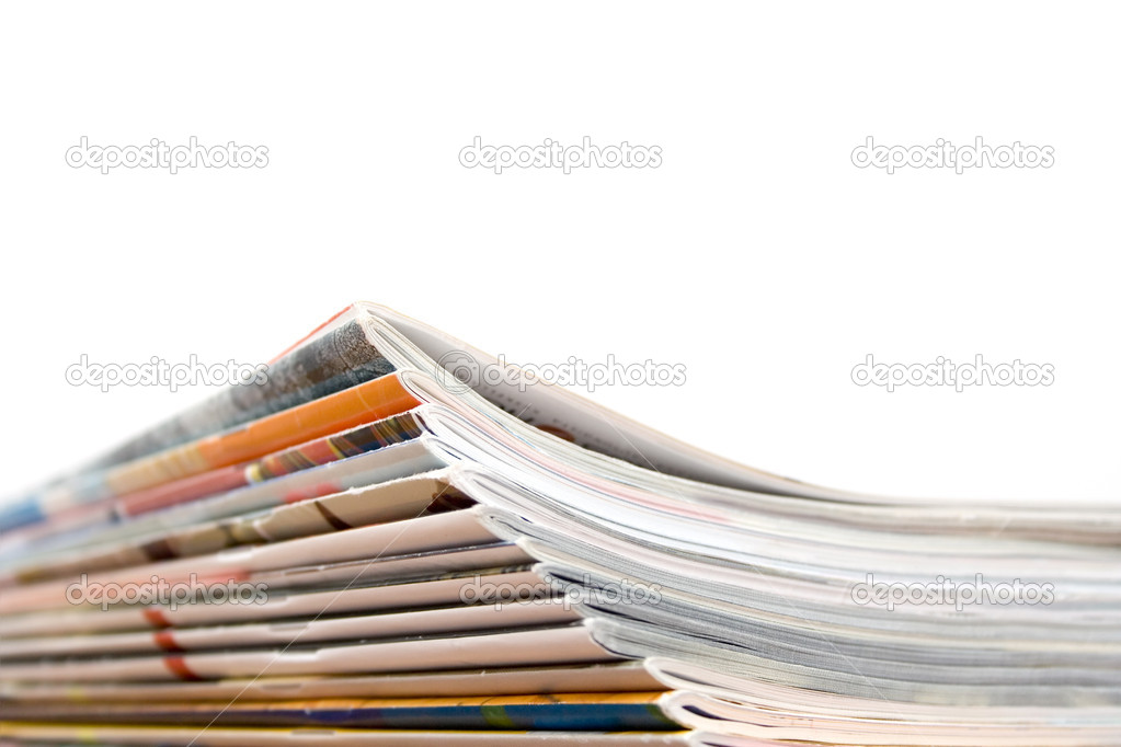 Stack of magazines — Stock Photo #6287064