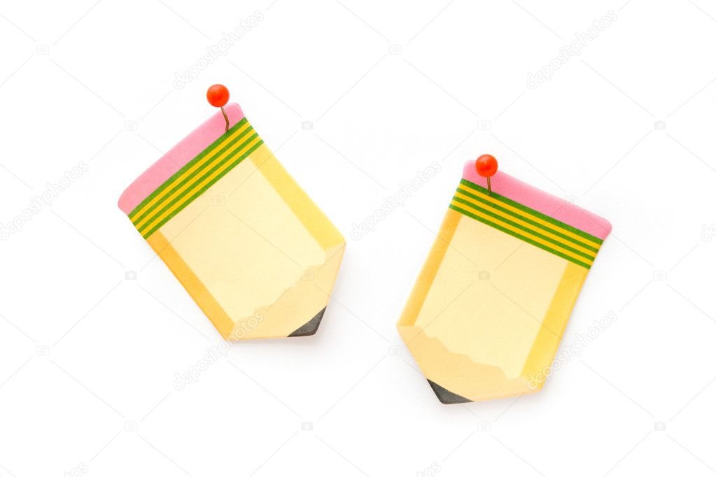 Blank pencil shaped post-it notes — Stock Photo #6287595