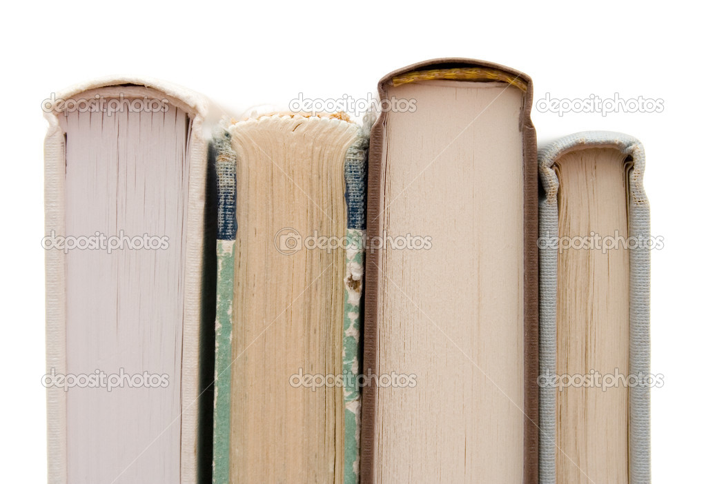Books on white isolated background — Lizenzfreies Foto #6287615