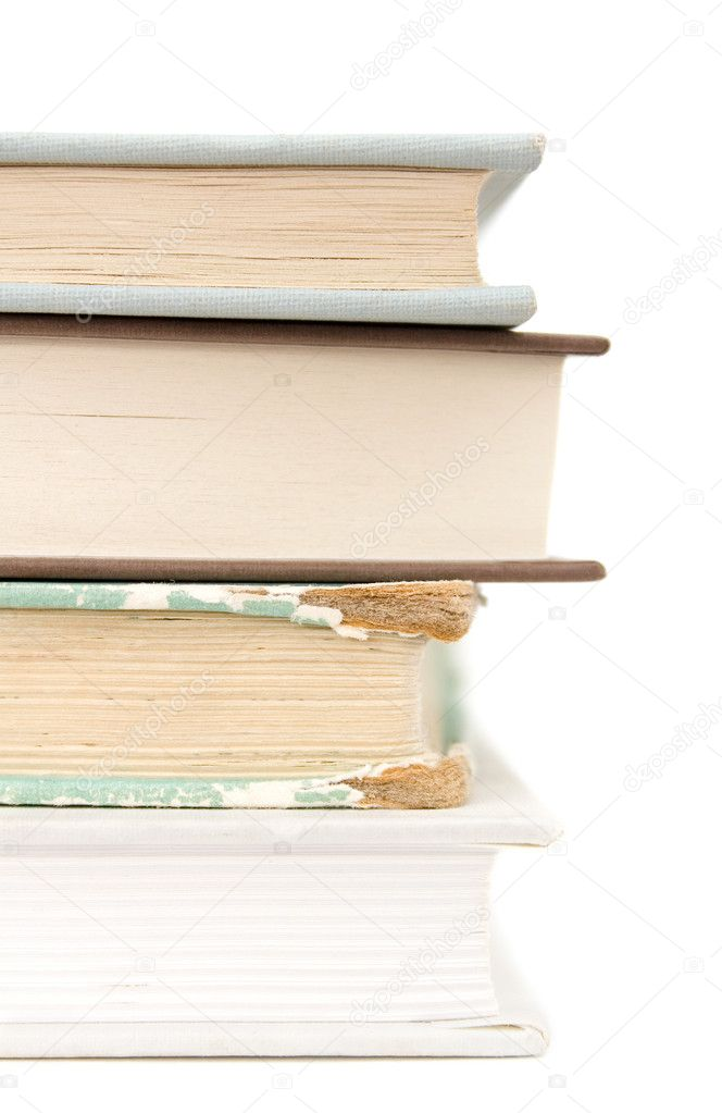 Books on white isolated background — Stock Photo #6287616