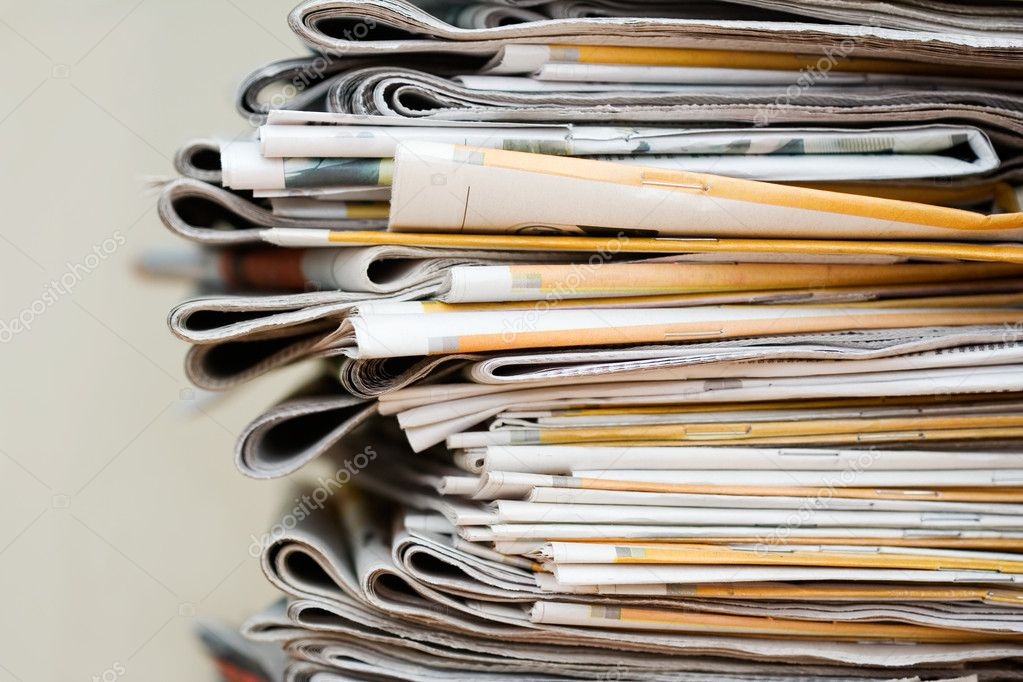 Big pile of newspapers, focus in front  Stock Photo #6287732