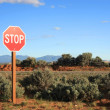 Royalty-Free Stock Photo: Stop sign in the middle of nowhere