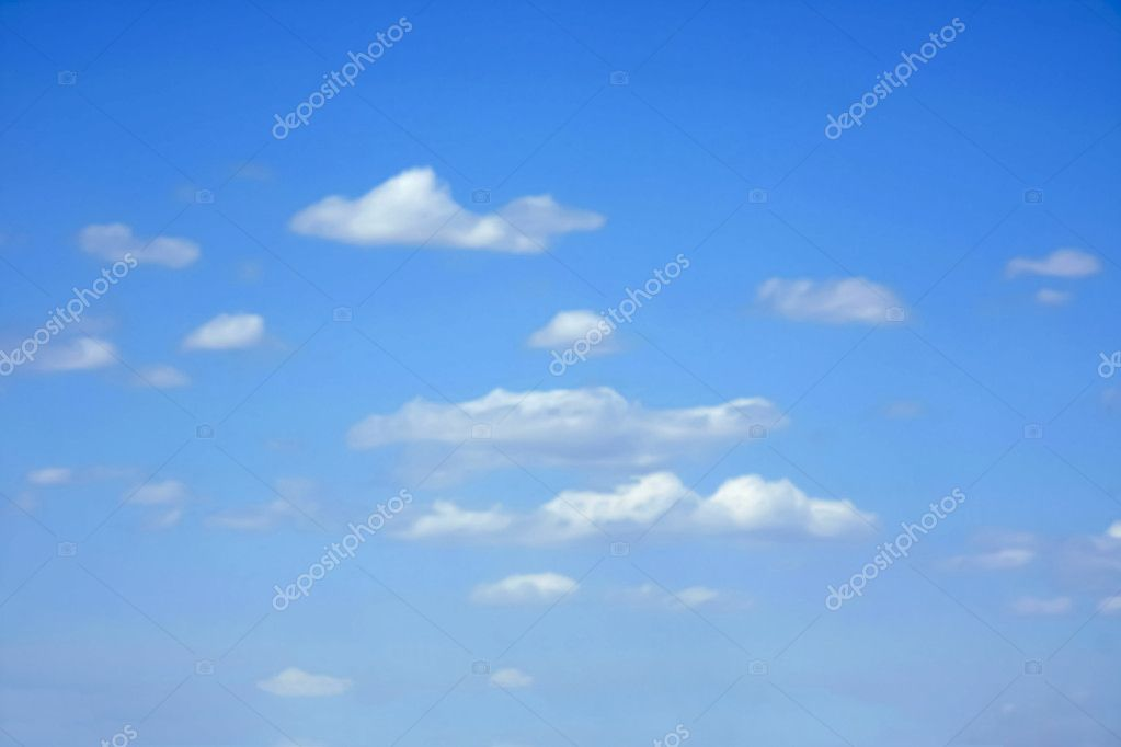 Little white clouds over blue sky — Stock Photo #6431214