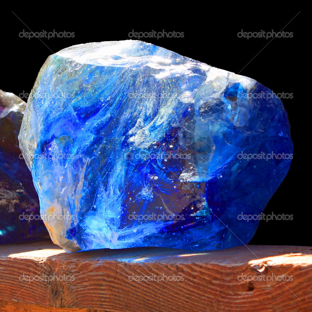 A close up of a shiny blue stone — Stock Photo #6599295