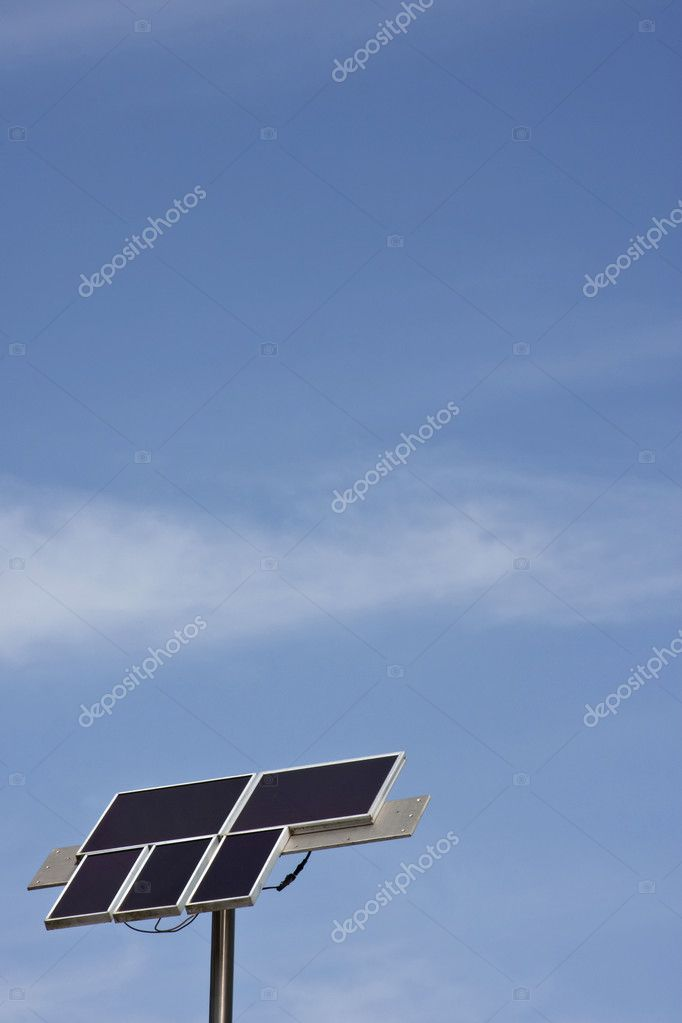 Solar power done by home-owner — Stock Photo #6653550