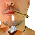 Closeup of man with cigar — Stock Photo #6378683