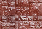 Brown color painted stone wall, seamless texture — Stock Photo